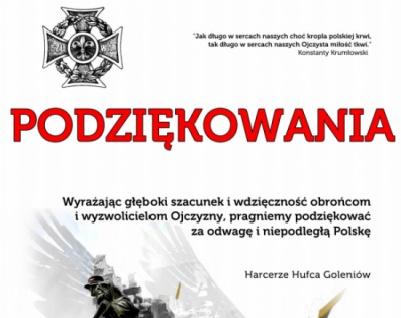 Za odwagę i wolną Polskę – dziękujemy!
